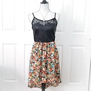 Leather, Lace, & Flowers dress